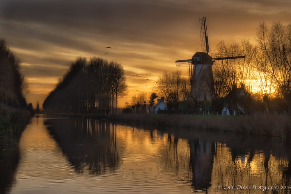 Damme at Sunset